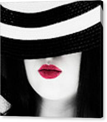Red Lips Canvas Print by Jim Thompson