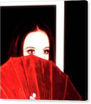 Red Parasol Canvas Print by Jim Thompson