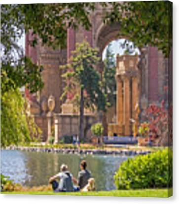 Relaxing At The Palace Canvas Print by Kate Brown