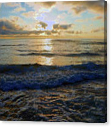 Rockaway Sunset #3 Enhanced Canvas Print by Ben Upham III