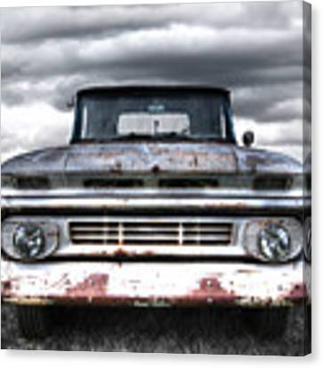 Rust And Proud - 62 Chevy Fleetside Canvas Print