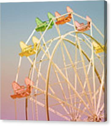 Santa Cruz Ferris Wheel Canvas Print by Linda Woods