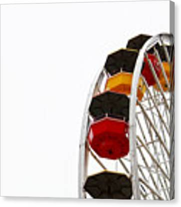 Santa Monica Pier Ferris Wheel- By Linda Woods Canvas Print by Linda Woods