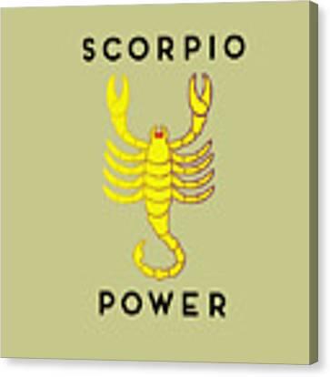 Scorpio Power Canvas Print by Judy Hall-Folde