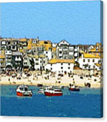 Sea And Sky Canvas Print by Julian Perry