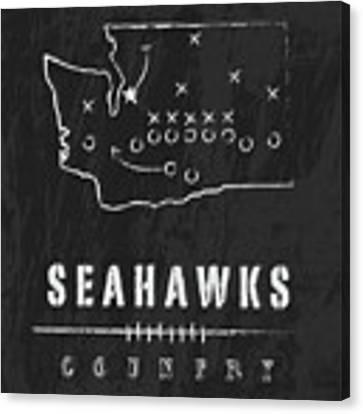 Seattle Seahawks Art - Nfl Football Wall Print Canvas Print by Damon Gray