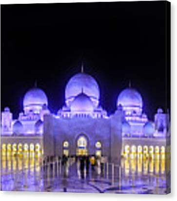 Sheikh Zayed Mosque Panorama View Canvas Print by Yogendra Joshi