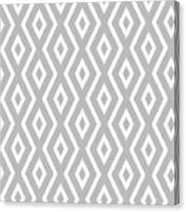 Silver Pattern Canvas Print by Christina Rollo