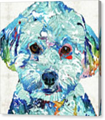 Small Dog Art - Soft Love - Sharon Cummings Canvas Print by Sharon Cummings