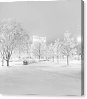 Snow On Pettigrew Canvas Print by Ben Shields