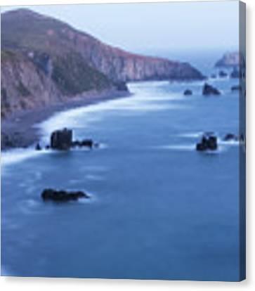 Sonoma Coastline After Dark Canvas Print by Jim Thompson