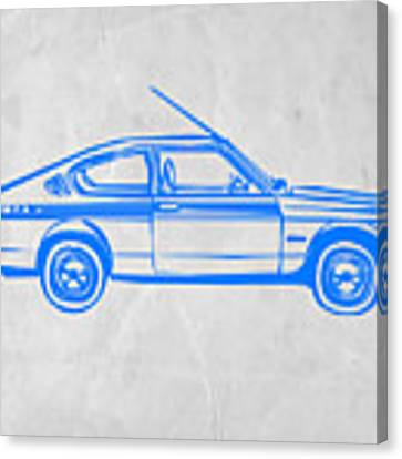 Sports Car Canvas Print by Naxart Studio