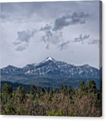 Spring Storm Behind Pagosa Peak Canvas Print by Jason Coward