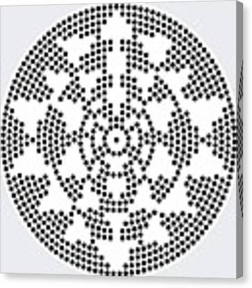 Sri Dots Canvas Print by Robert Thalmeier