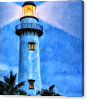Lights On For You At St. Simons Canvas Print by Mark Tisdale