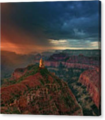 Storm Clouds North Rim Grand Canyon Arizona Canvas Print by Dave Welling