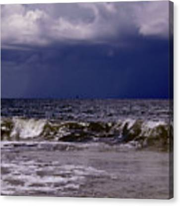 Stormy Beach Canvas Print by Carolyn Marshall