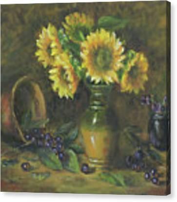 Sunflowers Canvas Print by Katalin Luczay