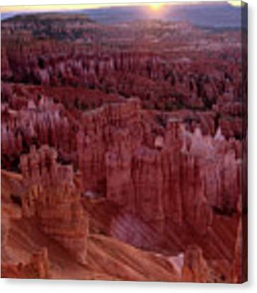 Sunrise Over The Hoodoos Bryce Canyon National Park Canvas Print by Dave Welling