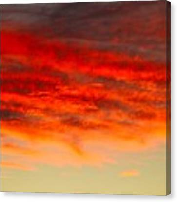 Sunset At Eaton Rapids 4826 Canvas Print by Wesley Elsberry