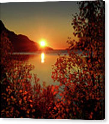 Sunset In Ersfjordbotn Canvas Print