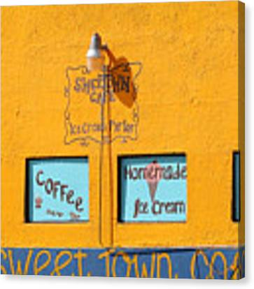 Sweet Town Cafe Canvas Print by Dart and Suze Humeston