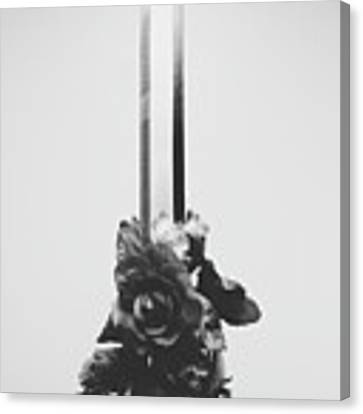 Sword And Rose Canvas Print by Desmond Manny