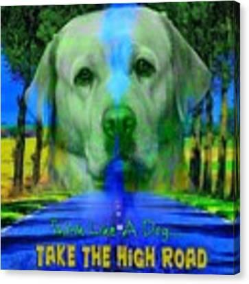 Take The High Road Canvas Print by Kathy Tarochione