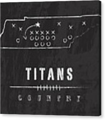 Tennessee Titans Art - Nfl Football Wall Print Canvas Print by Damon Gray