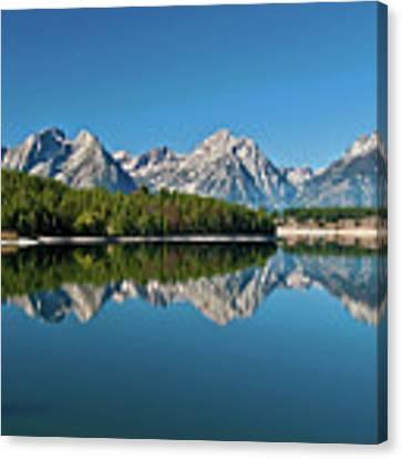 Teton Reflections II Canvas Print by Gary Lengyel