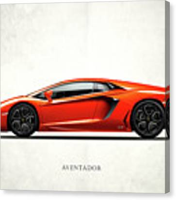 The Aventador Canvas Print by Mark Rogan