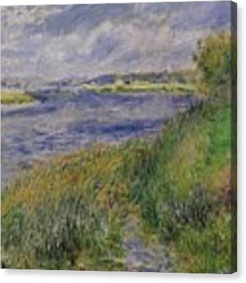 The Banks Of The Seine Champrosay Canvas Print