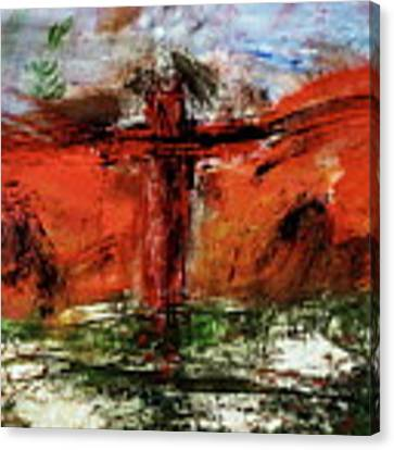 The Crucifixion #1 Canvas Print by Michael Lucarelli