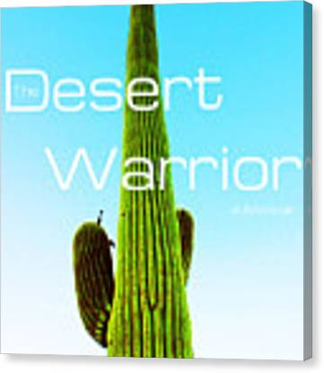 The Desert Warrior Poster Vi Canvas Print by MB Dallocchio