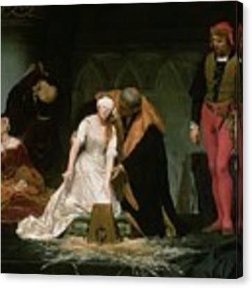 The Execution Of Lady Jane Grey Canvas Print by Hippolyte Delaroche