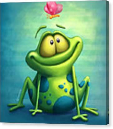 The Frog Canvas Print by Tooshtoosh