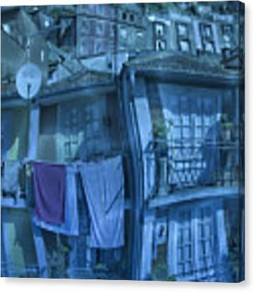 The Groggy Blue House Canvas Print by Heiko Koehrer-Wagner