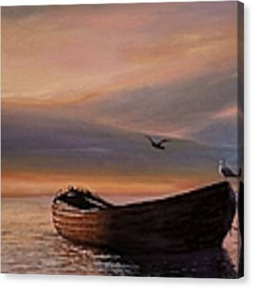 A Lone Boat Canvas Print by Rosario Piazza