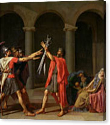 The Oath Of Horatii Canvas Print by Jacques Louis David