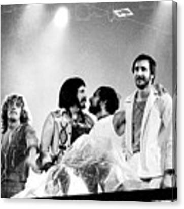 The Who 1976 Canvas Print by Chris Walter