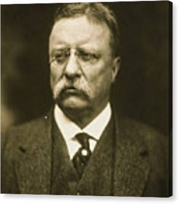 Theodore Roosevelt Canvas Print by Artistic Panda