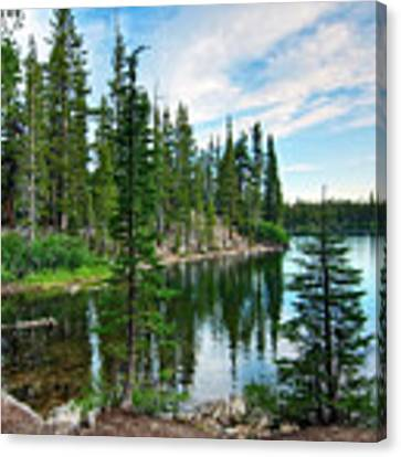 Tranquility - Twin Lakes In Mammoth Lakes California Canvas Print