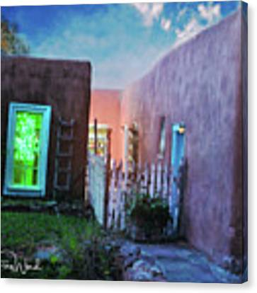 Twilight On Bent Street Canvas Print by Kate Word