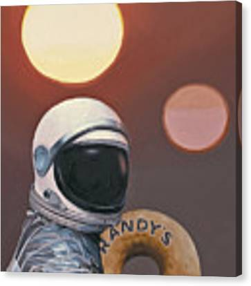 Twin Suns And Donuts Canvas Print by Scott Listfield