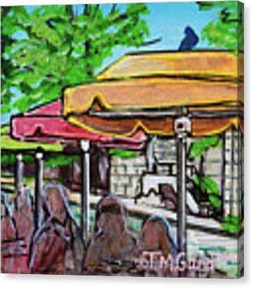 Umbrellas Canvas Print by TM Gand