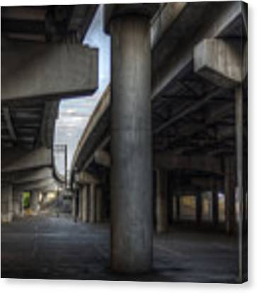 Under The Overpass I Canvas Print by Break The Silhouette