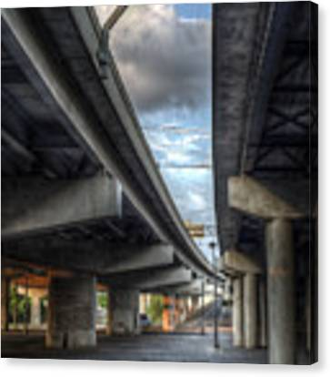 Under The Overpass II Canvas Print by Break The Silhouette