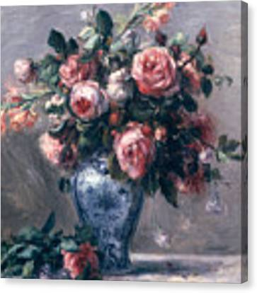 Vase Of Roses Canvas Print