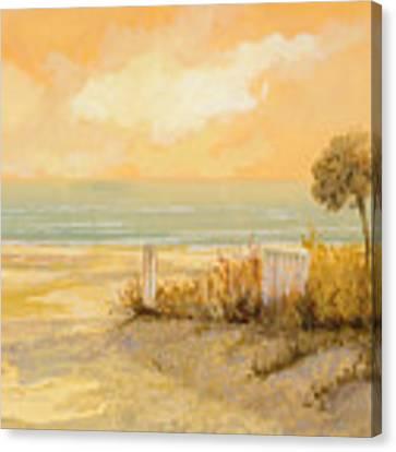 Verso La Spiaggia Canvas Print