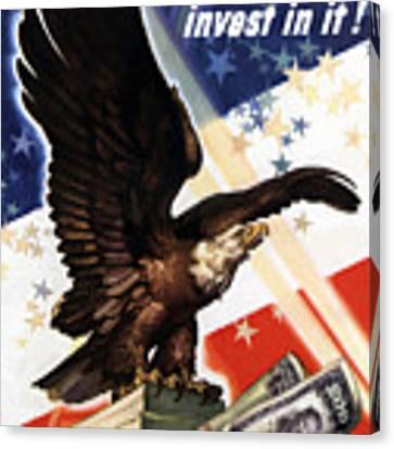 Victory Loan Bald Eagle Canvas Print
